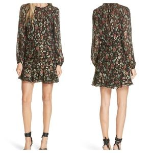 Robin Silk Blend Jacquard Minidress-VERONICA BEARD
